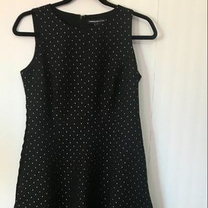 American Living Black and Grey Dotted Dress